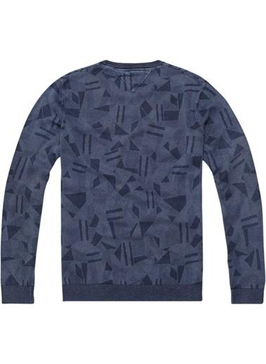 Tommy Hilfiger Erkek Tjm Abstract Cn Sweate Sweatshirt DM0DM03676 Renkli